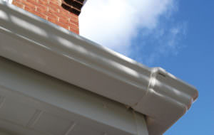 Scultured Style White Guttering