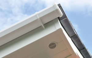 Chamfered Style White Guttering