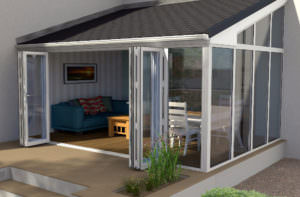 Lean To Conservatory with Bi-Fold Doors