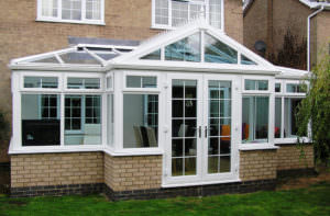 T Shaped White Conservatory