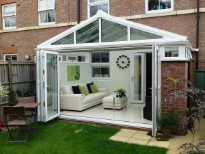 Bi-Folding Doors on a Conservatory