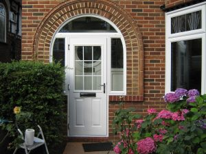 White Arched Composite Door